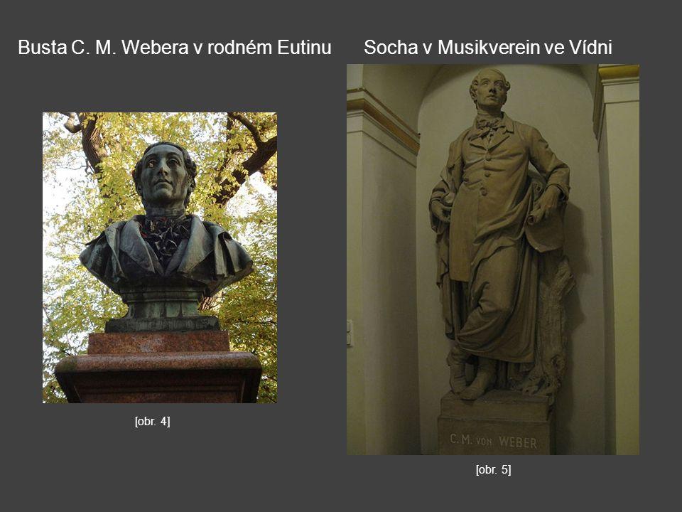 Busta C. M. Webera v rodném EutinuSocha v Musikverein ve Vídni [obr. 4] [obr. 5]