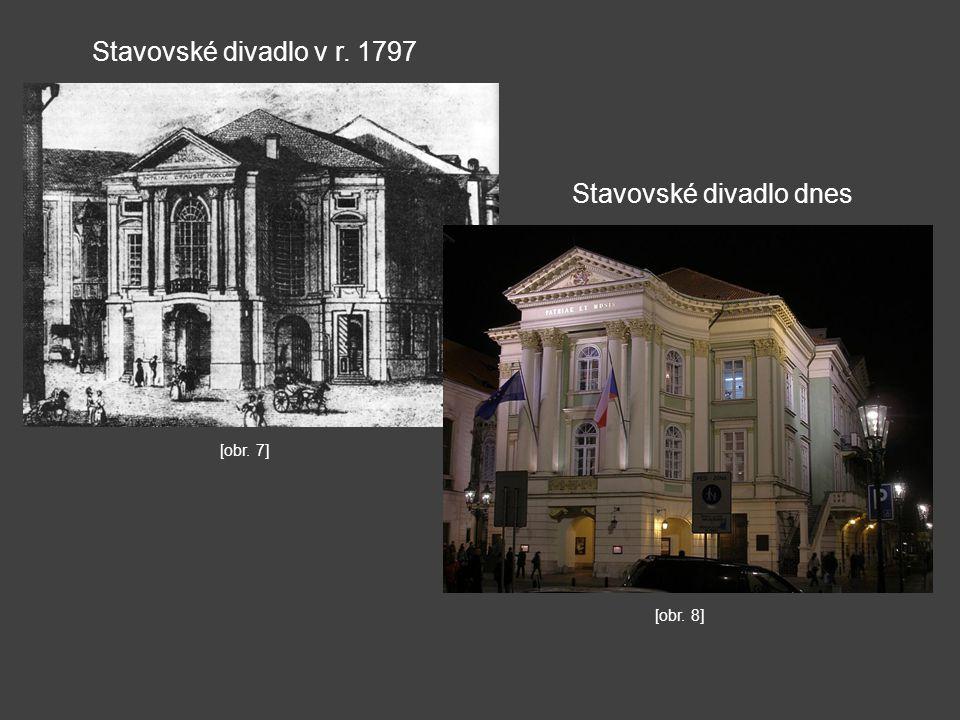 Stavovské divadlo v r. 1797 Stavovské divadlo dnes [obr. 8] [obr. 7]