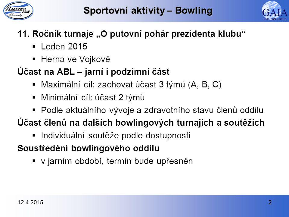 12.4.20152 Sportovní aktivity – Bowling 11.