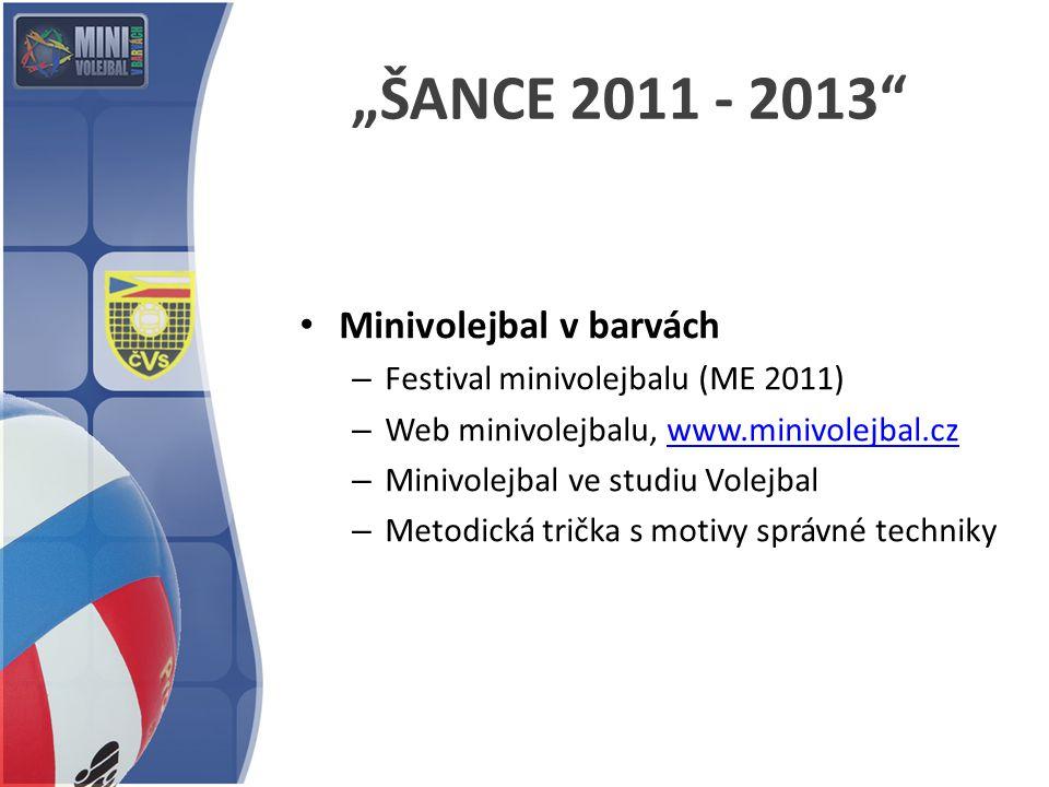 """ŠANCE 2011 - 2013"" Minivolejbal v barvách – Festival minivolejbalu (ME 2011) – Web minivolejbalu, www.minivolejbal.czwww.minivolejbal.cz – Minivolejb"