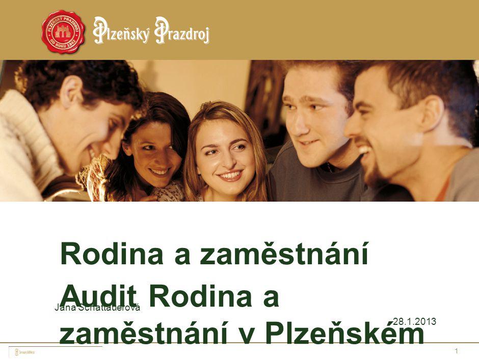 1 Rodina a zaměstnání Audit Rodina a zaměstnání v Plzeňském Prazdroji, a.s. Jana Schattauerová 28.1.2013
