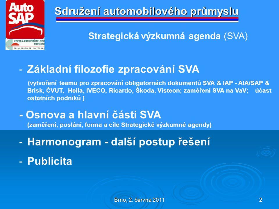 Brno, 2.června 2011 3 Sdružení automobilového průmyslu I.