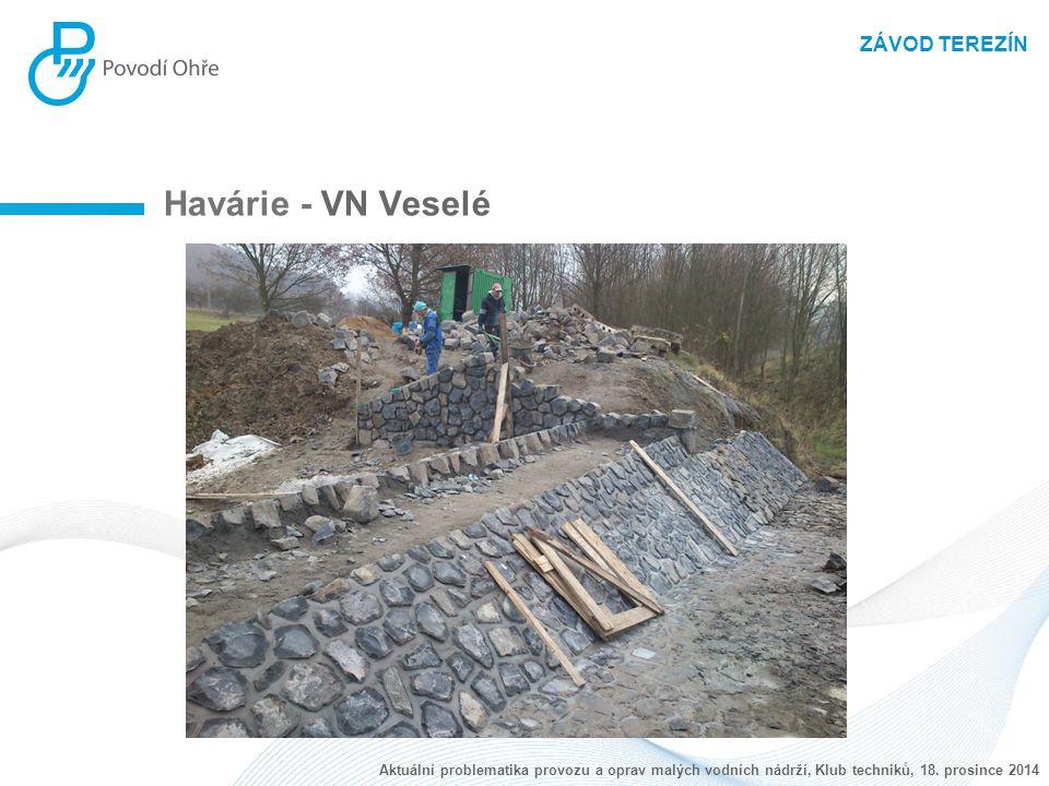 ZÁVOD TEREZÍN Havárie - VN Veselé Aktuální problematika provozu a oprav malých vodních nádrží, Klub techniků, 18. prosince 2014