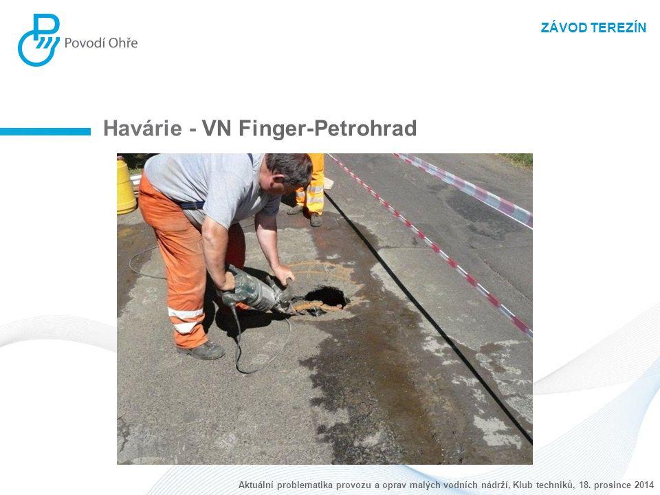 ZÁVOD TEREZÍN Havárie - VN Finger-Petrohrad Aktuální problematika provozu a oprav malých vodních nádrží, Klub techniků, 18. prosince 2014