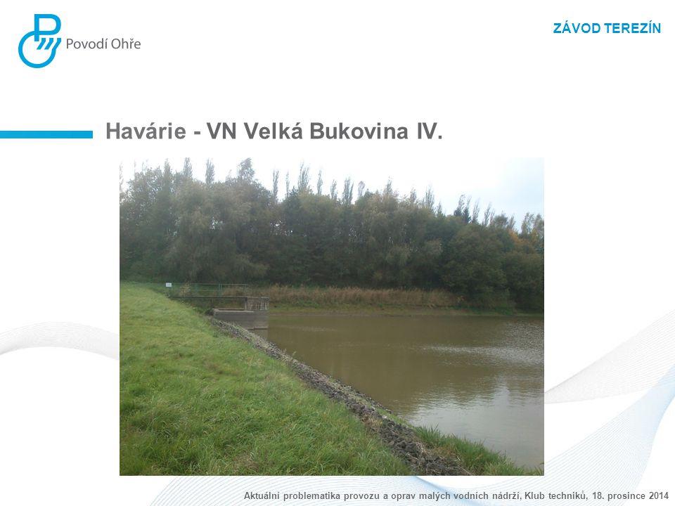 ZÁVOD TEREZÍN Havárie - VN Velká Bukovina IV. Aktuální problematika provozu a oprav malých vodních nádrží, Klub techniků, 18. prosince 2014
