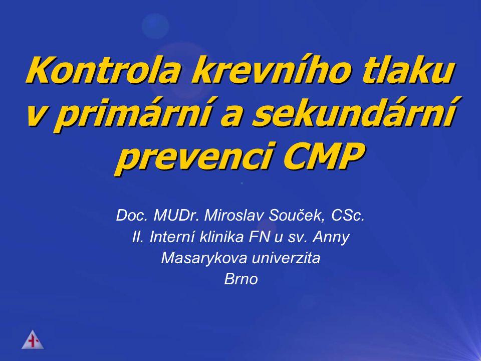 Kontrola krevního tlaku v primární a sekundární prevenci CMP Doc.