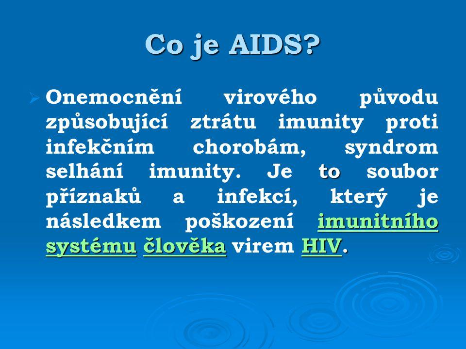 Co je AIDS. to imunitního systému člověkaHIV.