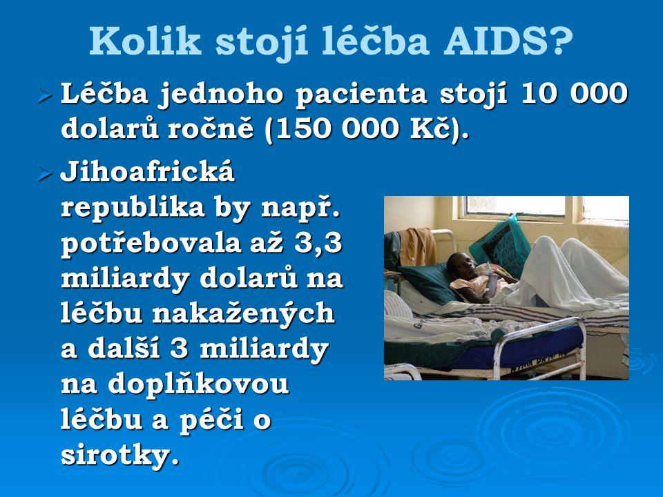 Kolik stojí léčba AIDS. Jihoafrická republika by např.