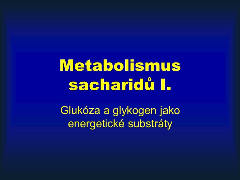 Metabolismus sacharidů I. Glukóza a glykogen jako energetické substráty