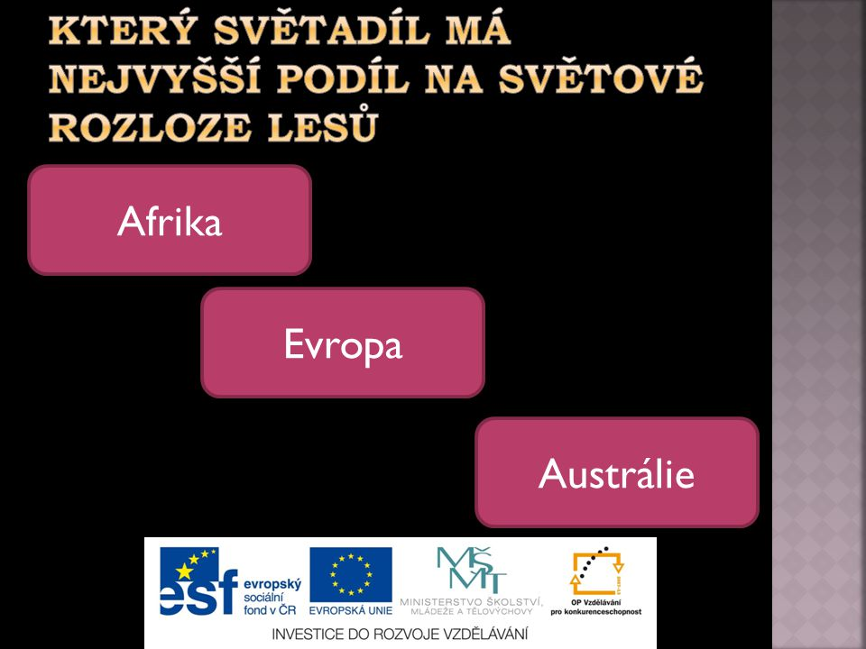 Afrika Austrálie Evropa