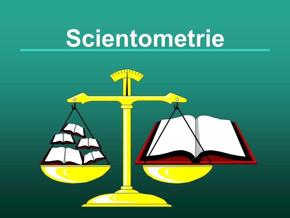 Účel scientometrie Hodnocení kvantity a kvality vědecké práce jedinců, vědeckých týmů, národní vědy Rozpoznávání trendů ve vědeckém výzkumu