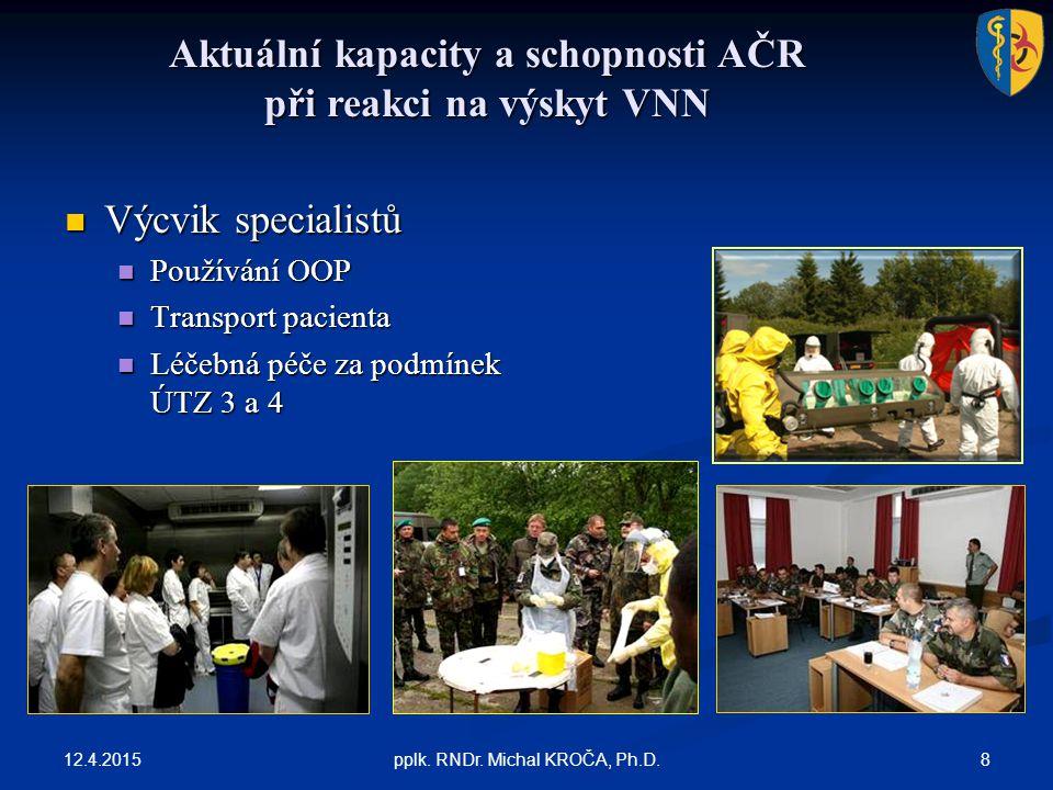 Aktuální kapacity a schopnosti AČR při reakci na výskyt VNN 12.4.2015 8pplk.