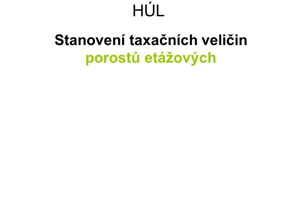 HÚL Stanovení taxačních veličin porostů etážových