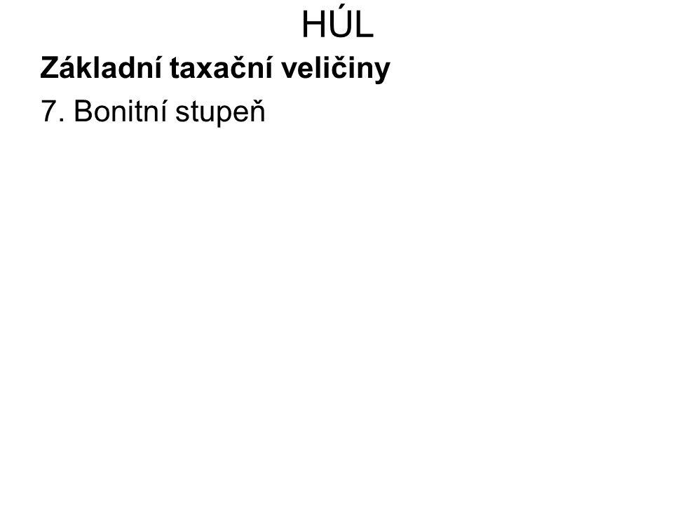 HÚL Základní taxační veličiny 8.
