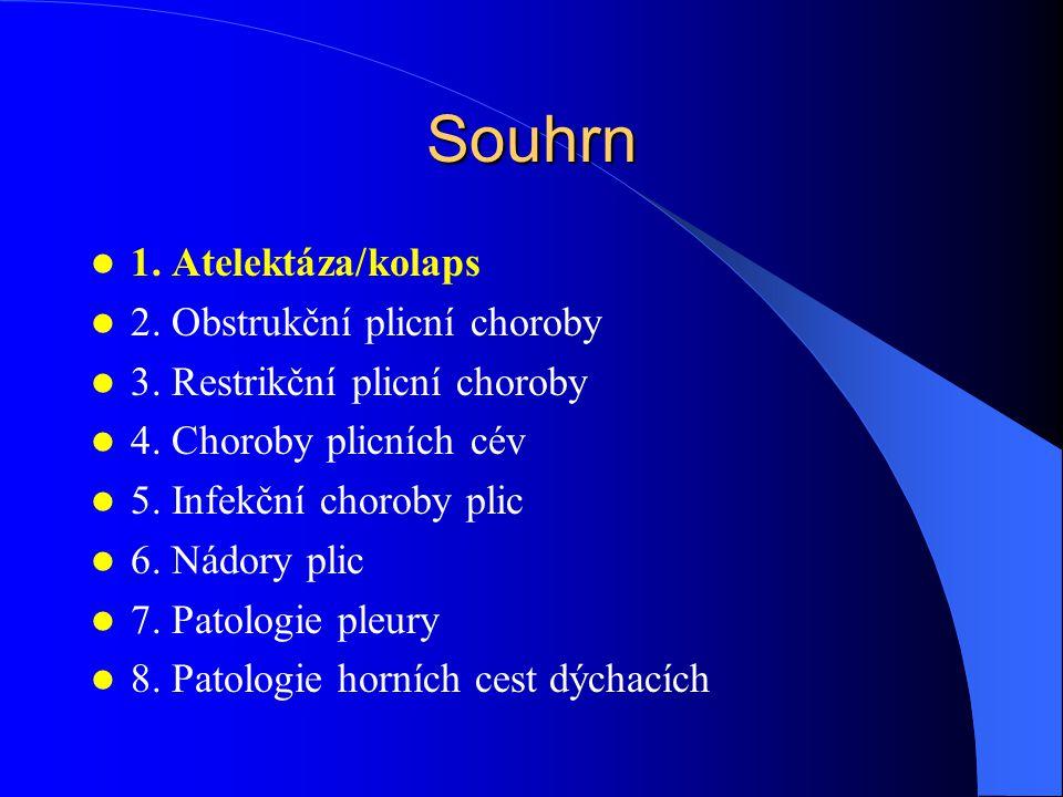 Chronická bronchitis podstata: hypersekrece + hypertrofie bronchiálních žlázek + zánět Ma: –hyperemie + edém sliznice –hlen / hlenohnis v lumen mikroskopie –rozšíření zóny slizničních žlázek (Reidové index) –mukocelulární hyperplázie, dlaždicobuněčná metaplázie –chronický / smíšený zánět bronchioly –goblet cell metaplázie + fibróza stěny