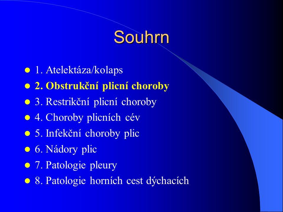 Bronchiektázie = permanentní dilatace bronchů / bronchiolů při destrukci jejich stěny perzistentní kašel + mukopurulentní sputum 1.