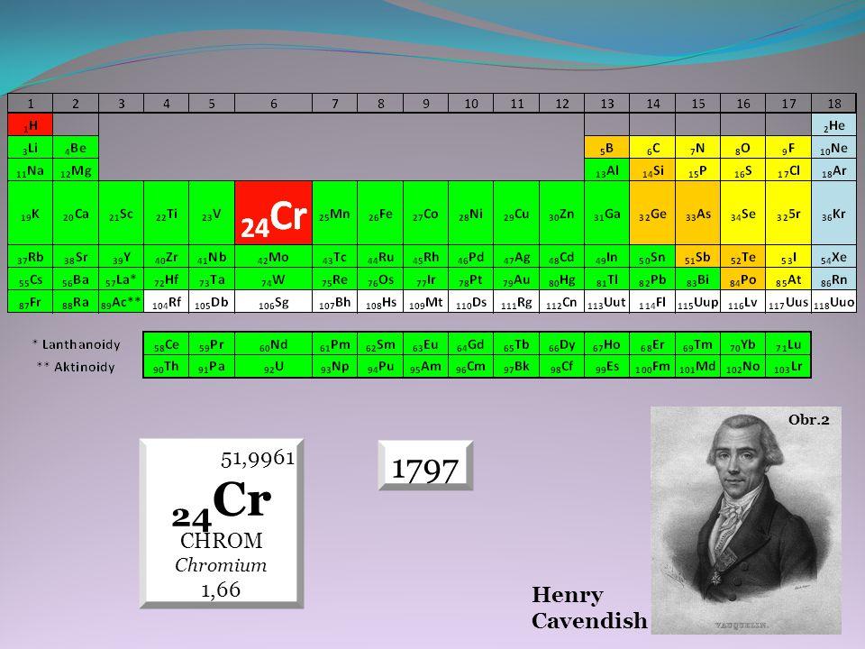 1797 51,9961 24 Cr CHROM Chromium 1,66 Henry Cavendish Obr.2