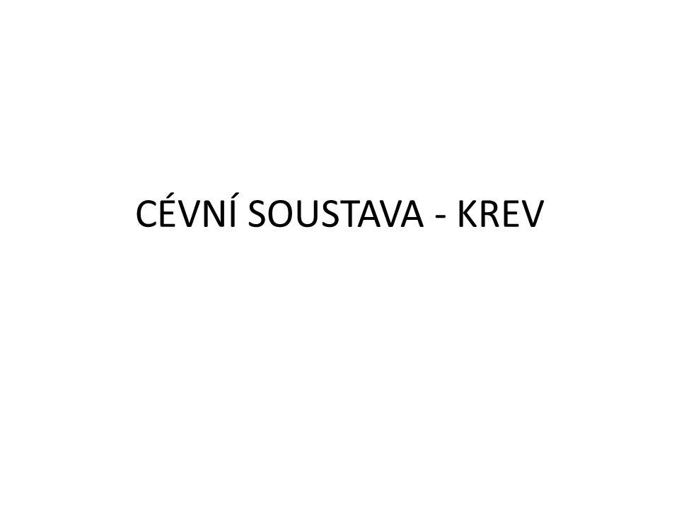 CÉVNÍ SOUSTAVA - KREV