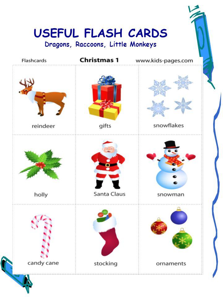 USEFUL FLASH CARDS Dragons, Raccoons, Little Monkeys