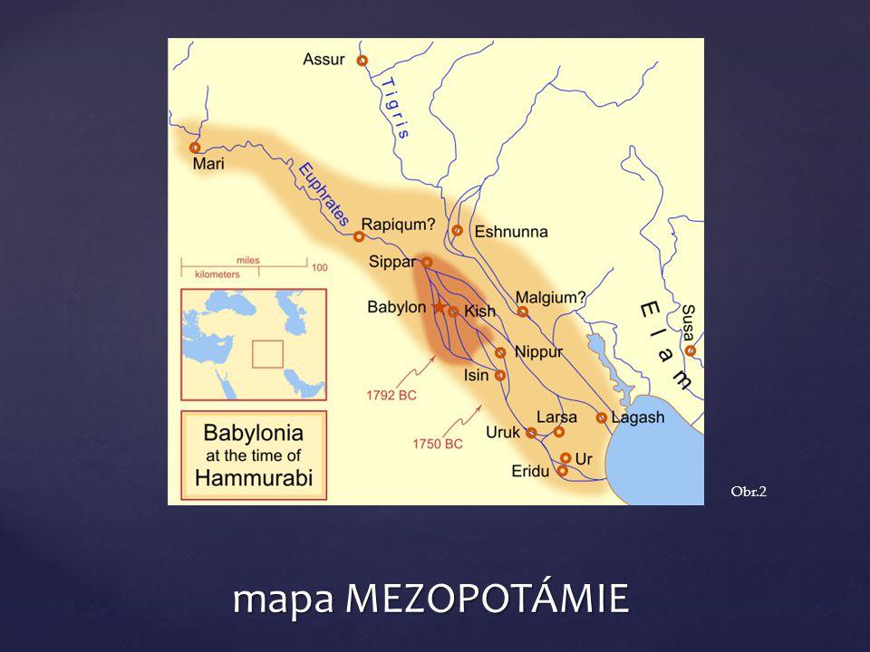 mapa MEZOPOTÁMIE Obr.2