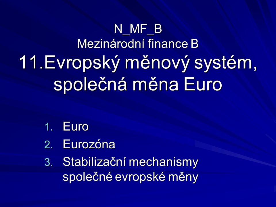Harmonogram zavedení Eura 1.