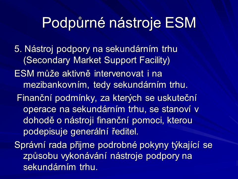 Podpůrné nástroje ESM 5.