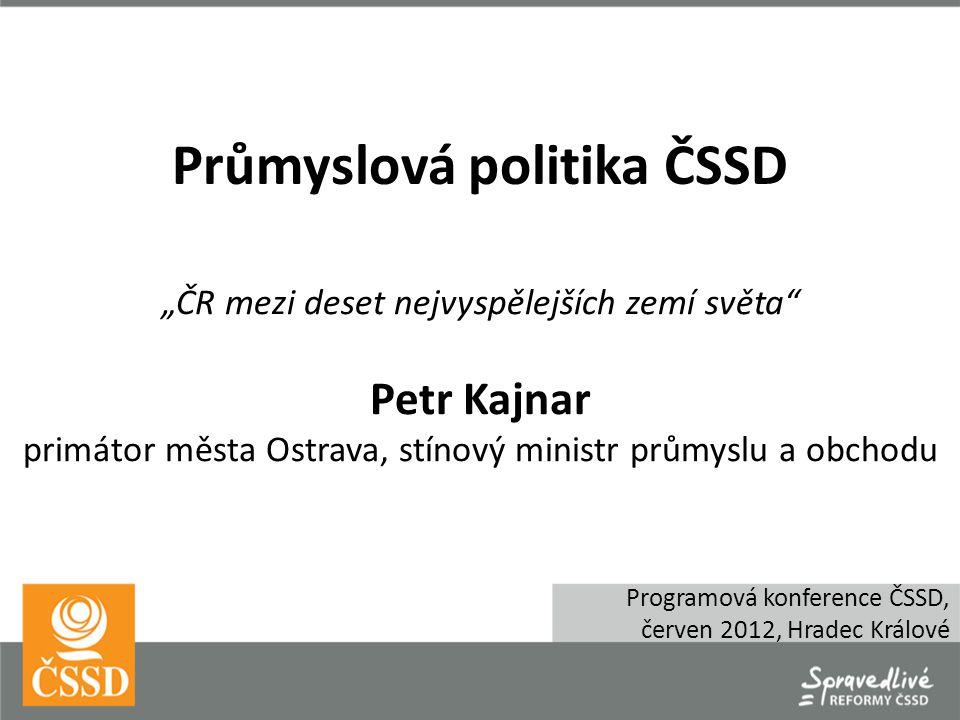  Text Celkové výdaje ČR na VaV (GERD) Průmysl ČR v kontextu EU a světové ekonomiky