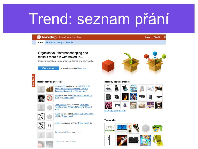 Trend: seznam přání