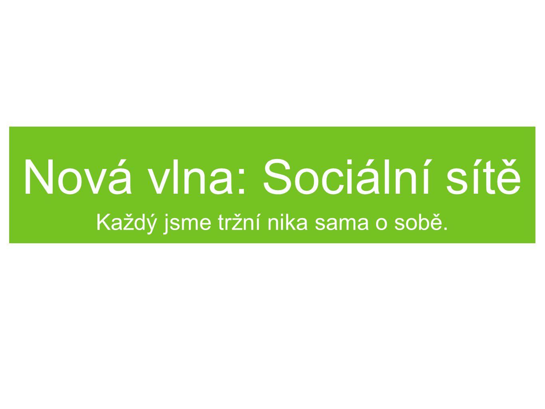 Nová vlna: Sociální sítě Každý jsme tržní nika sama o sobě.