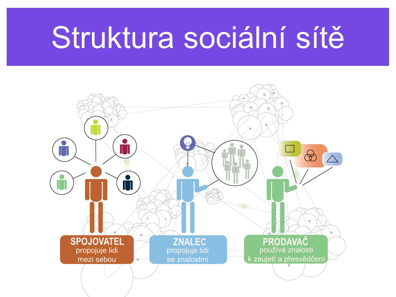 Klíčoví lidé v sociálních sítích Struktura sociální sítě