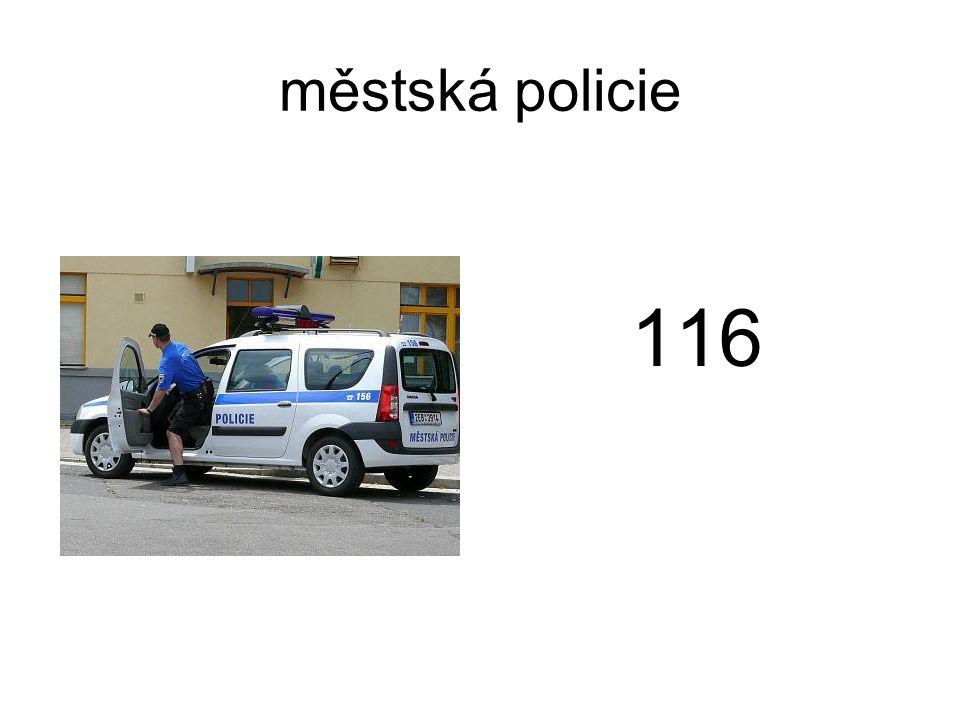 městská policie 116