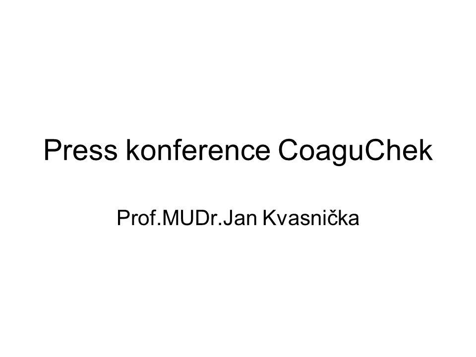 Press konference CoaguChek Prof.MUDr.Jan Kvasnička