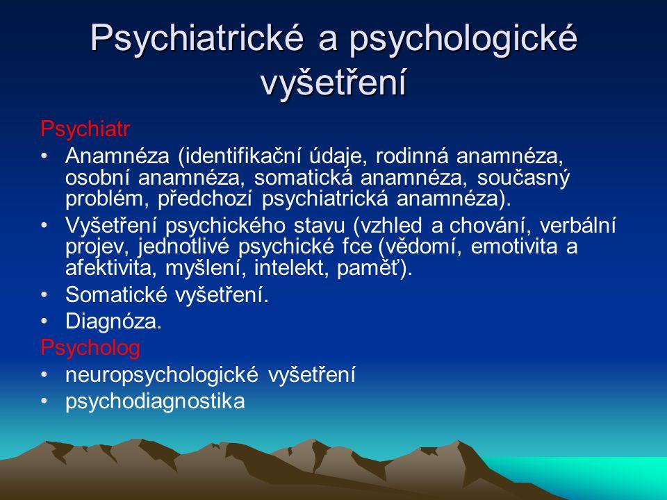 Psychodiagnostické metody Klinické (pozorování, rozhovor, anamnéza, analýza spont.