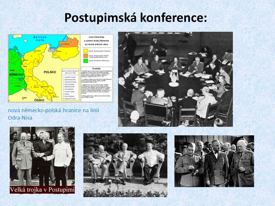 Postupimská konference: nová německo-polská hranice na linii Odra-Nisa