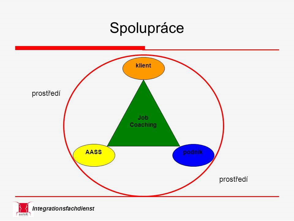 Integrationsfachdienst Spolupráce Job Coaching AASS klient podnik prostředí
