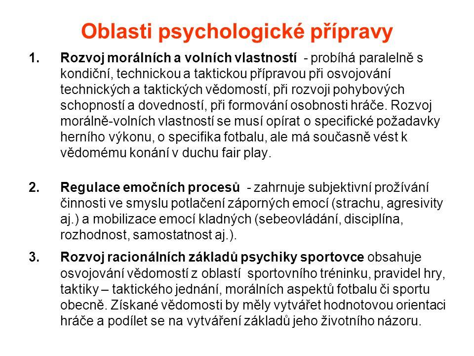 Fáze psychologické přípravy Dlouhodobá podílejí se specifické požadavky konkrétního sportovního odvětví, individuální a věkové zvláštnosti.