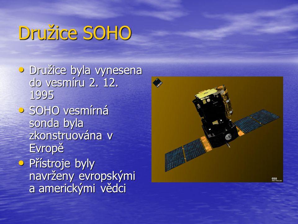Družice SOHO Družice byla vynesena do vesmíru 2. 12.