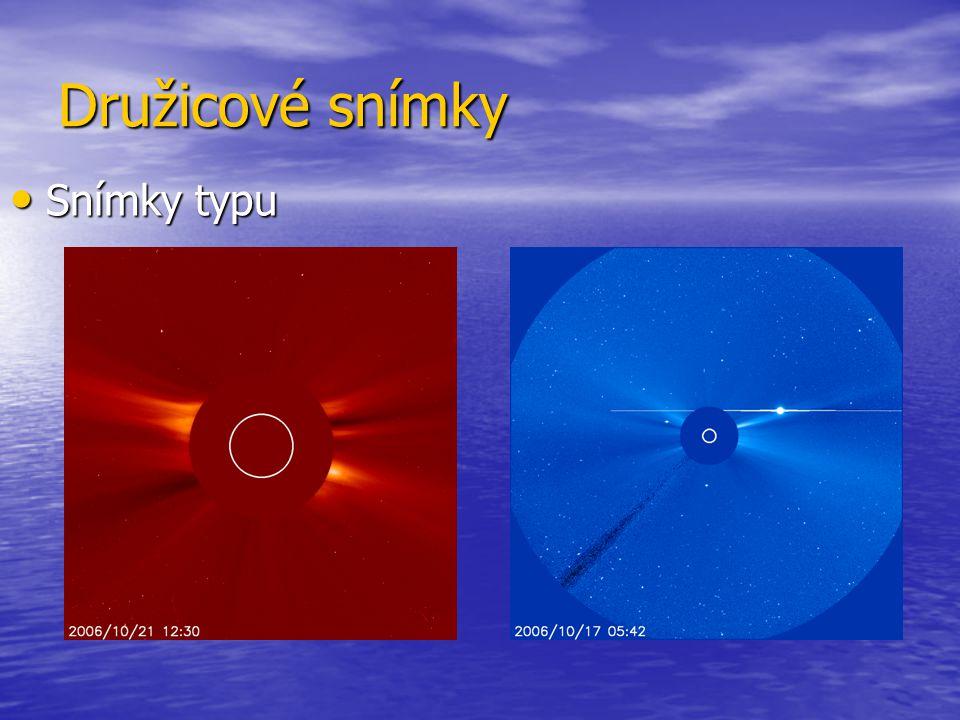 Družicové snímky Snímky typu Snímky typu