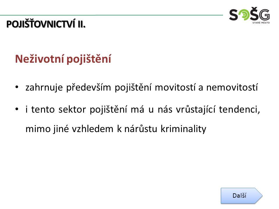 POJIŠŤOVNICTVÍ II.