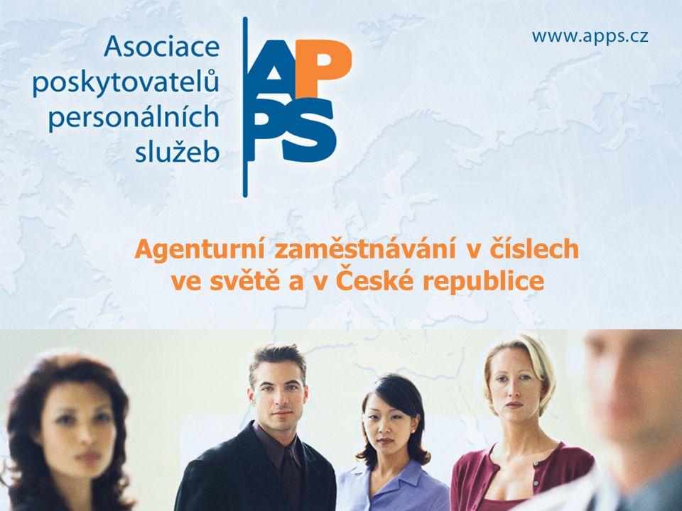 Agenturní zaměstnávání v číslech ve světě a v České republice