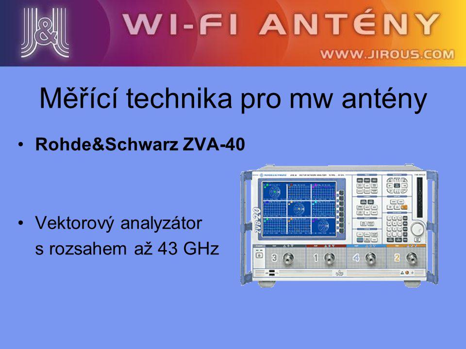 Rohde&Schwarz ZVA-40 Vektorový analyzátor s rozsahem až 43 GHz Měřící technika pro mw antény