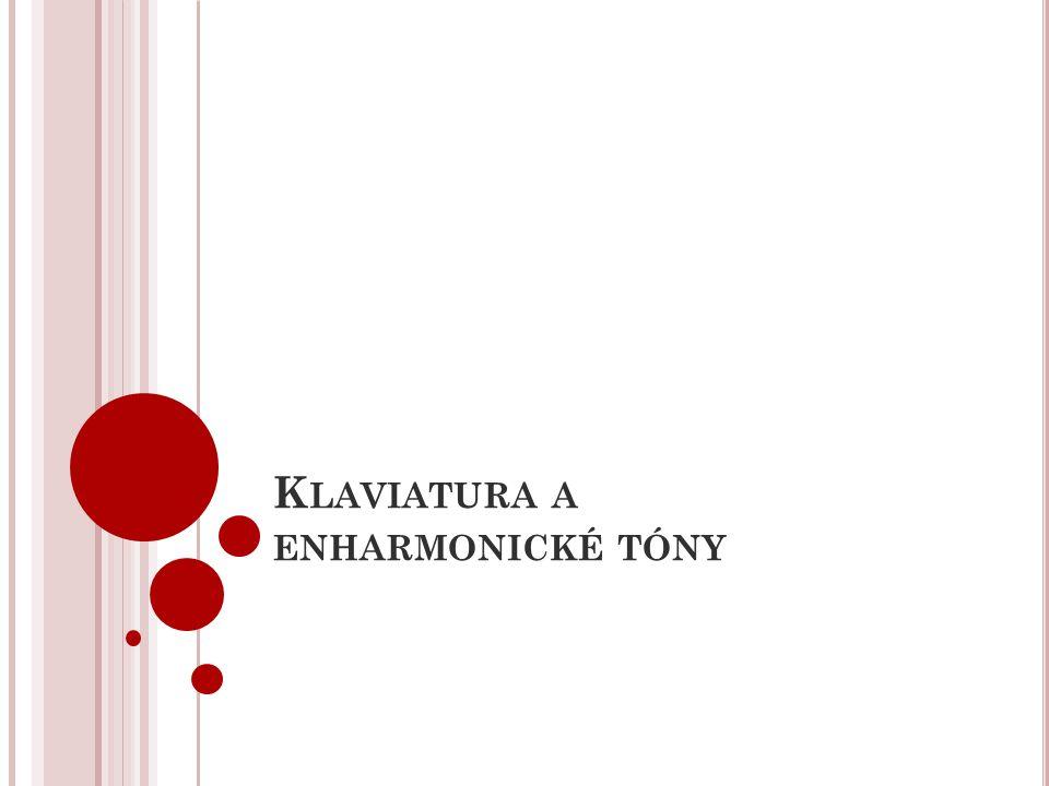 K LAVIATURA A ENHARMONICKÉ TÓNY