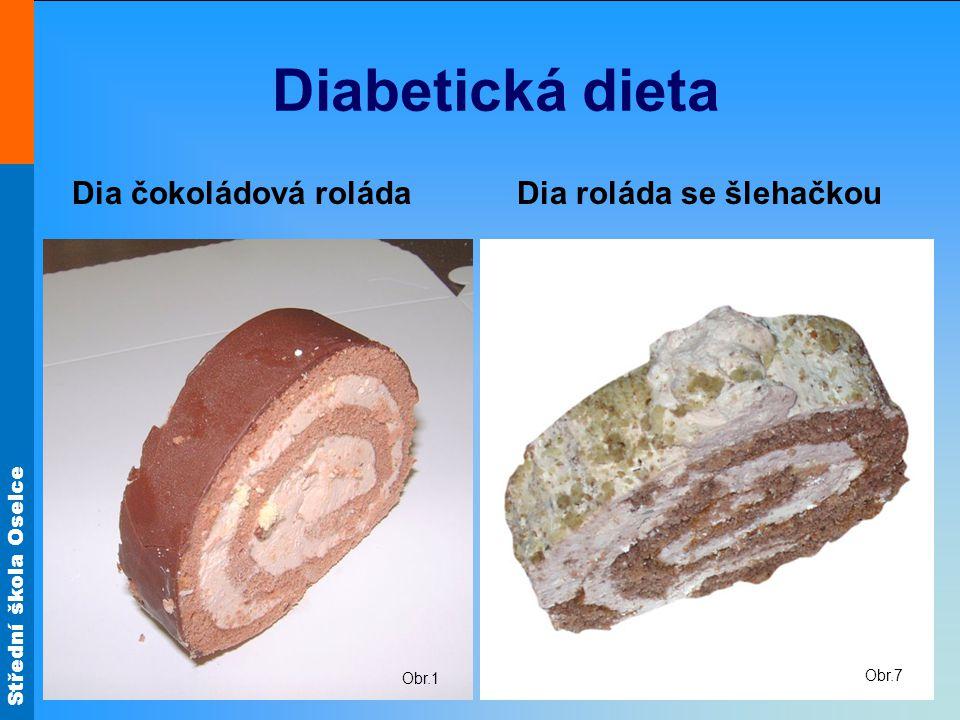 Střední škola Oselce Diabetická dieta Dia čokoládová roláda Dia roláda se šlehačkou Obr.1 Obr.7