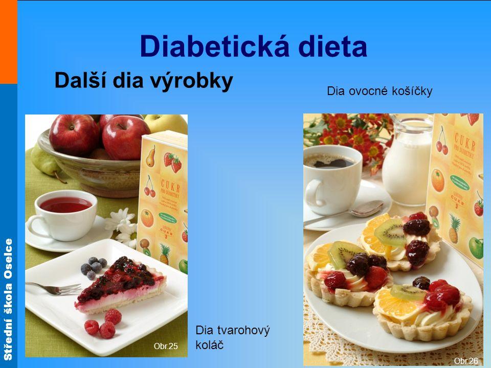 Střední škola Oselce Diabetická dieta Další dia výrobky Obr.25 Obr.26 Dia ovocné košíčky Dia tvarohový koláč