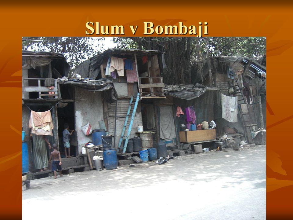 Slum v Bombaji