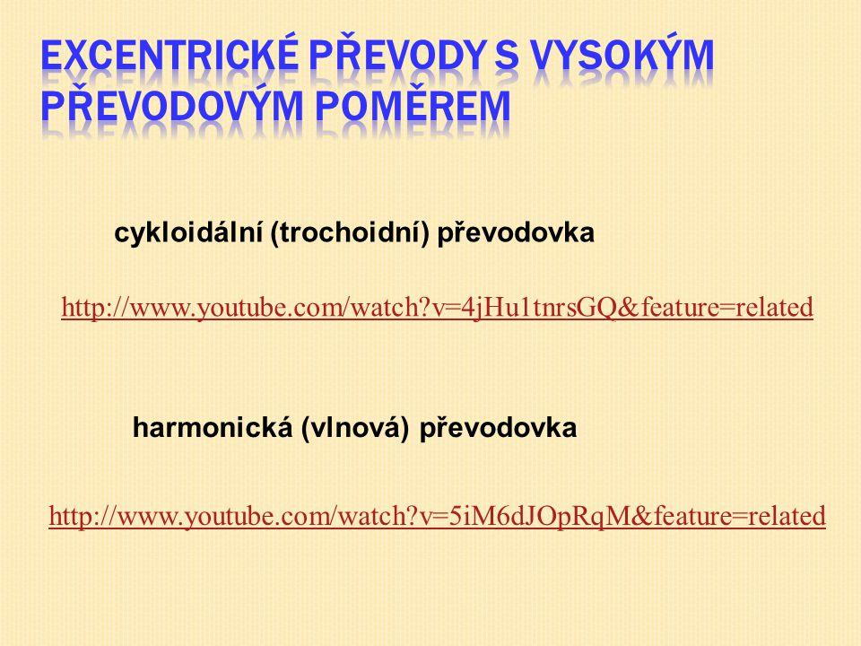 cykloidální (trochoidní) převodovka harmonická (vlnová) převodovka http://www.youtube.com/watch?v=4jHu1tnrsGQ&feature=related http://www.youtube.com/watch?v=5iM6dJOpRqM&feature=related
