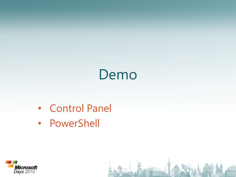 Demo Control Panel PowerShell