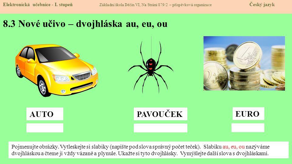 8.4 Procvičení Elektronická učebnice - I.