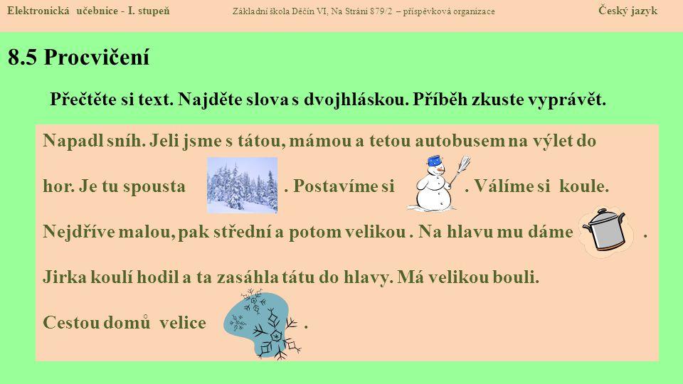 8.6 Pro šikulky Elektronická učebnice - I.