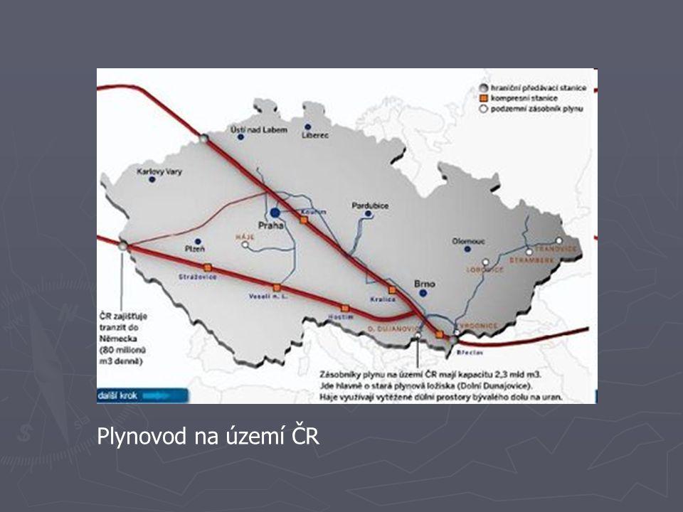 Plynovod na území ČR